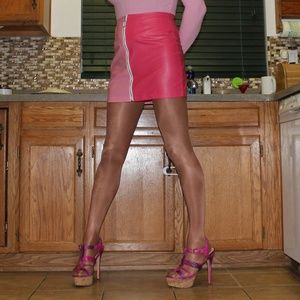 Two Toned Pink Shein Stretch Bodycon Skirt M